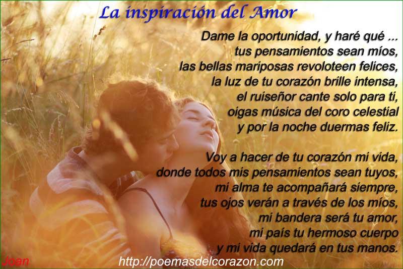 Me inspiras amor