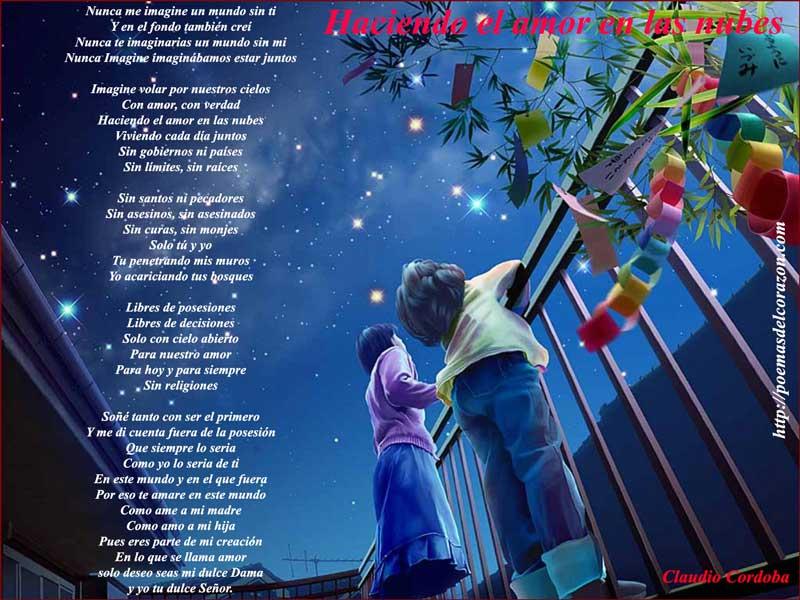 poema haciendo el amor en las nubes