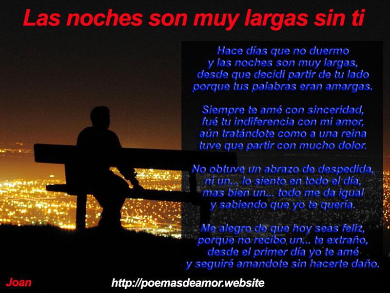 Poema las noches son muy largas