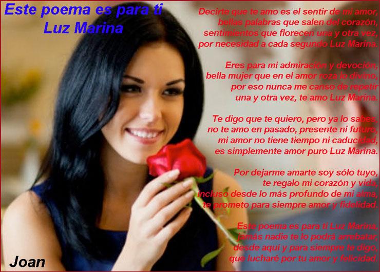 Este poema es para ti Luz Marina