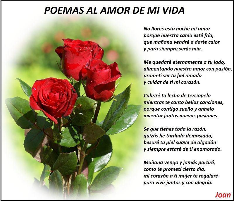 poemas al amor de mi vida