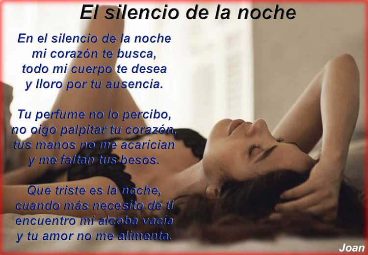 El silencio de la noche
