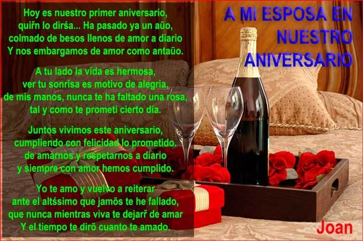 poema de aniversario de bodas