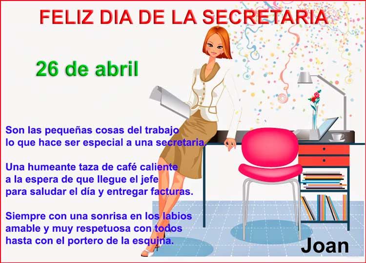 Dia de la Secretaria - 26 de abril
