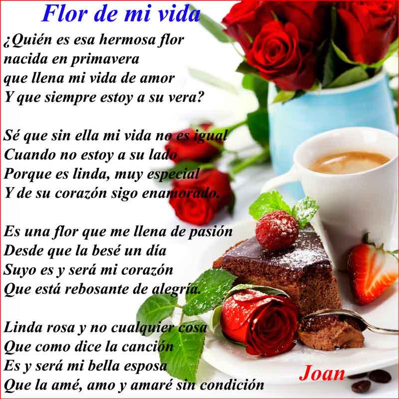 Flor de mi vida Poema de amor