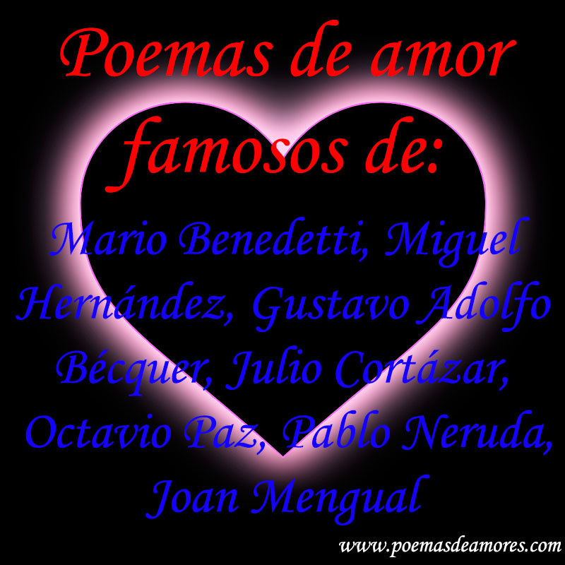 Poemas de amor famosos