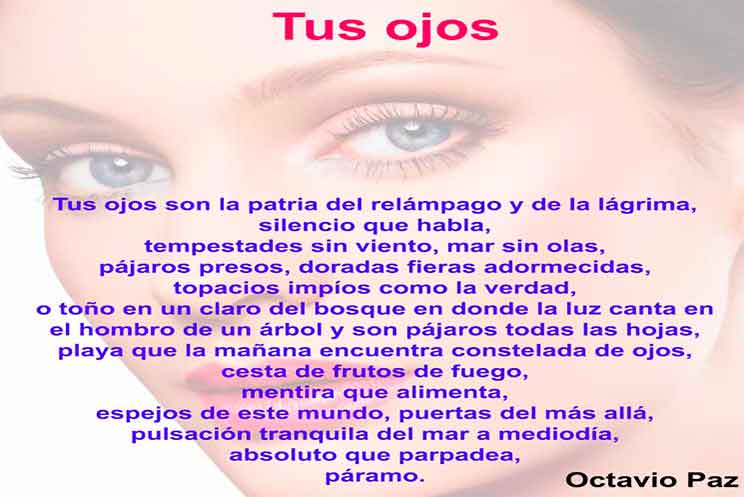 Octavio Paz Poema Tus Ojos