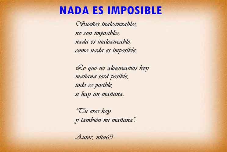 Nada es imposible si amas de verdad