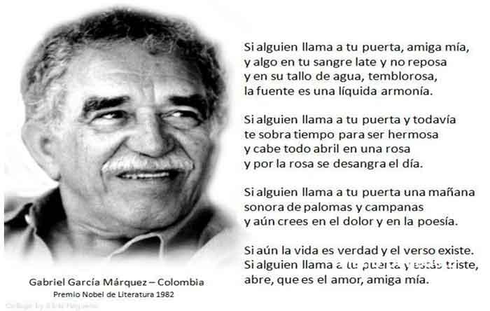 ABRIEL GARCIA MARQUEZ poema de amor en imagenes
