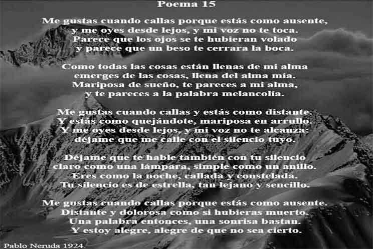 Poema 15 De Pablo Neruda