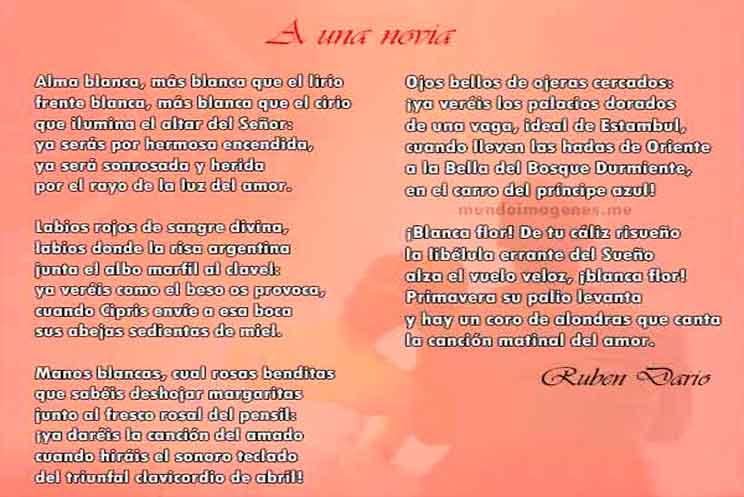 Poemas De Amor Largos A Una Novia