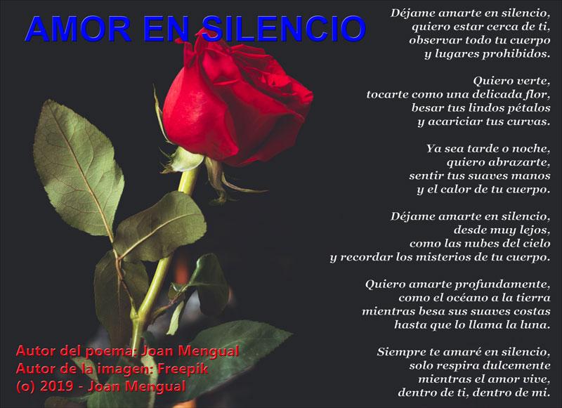 amor en silencio poema de joan Mengual