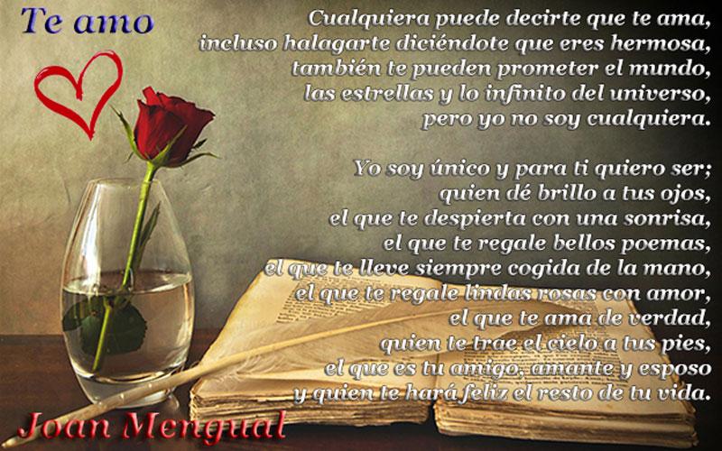 Te amo, poemas