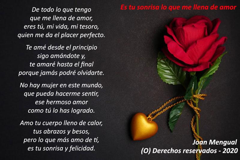 Tu sonrisa poema de amor